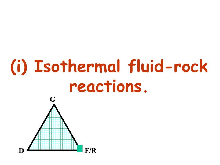 (i) Isothermal fluid-rock reactions.