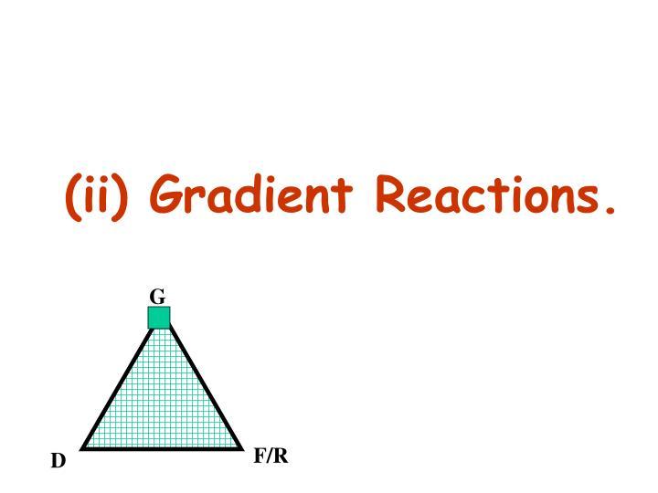 (ii) Gradient Reactions.