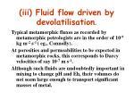 iii fluid flow driven by devolatilisation