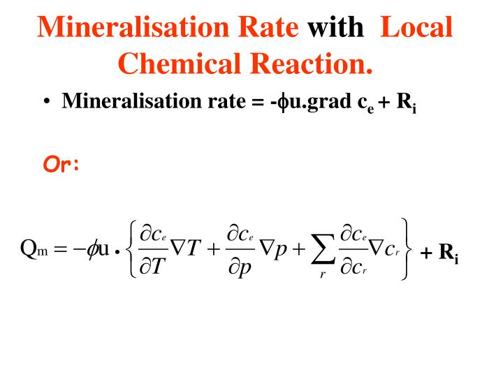 Mineralisation Rate