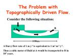 the problem with topographically driven flow