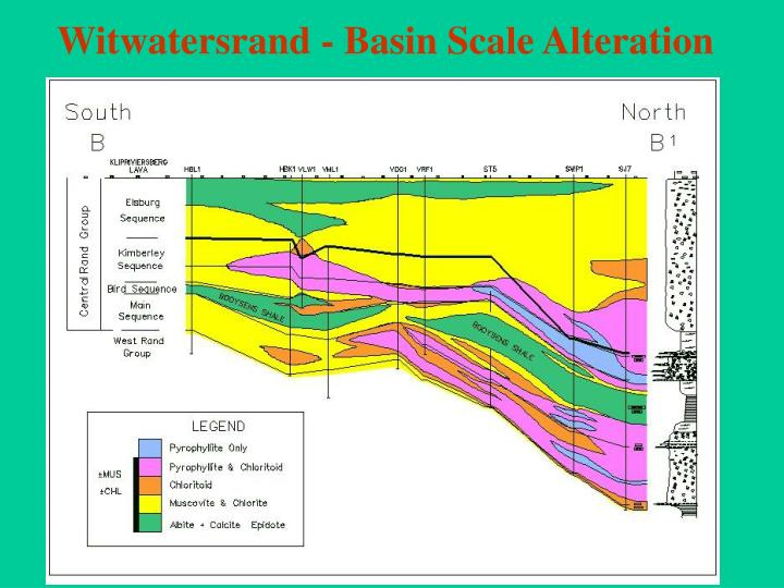 Witwatersrand - Basin Scale Alteration
