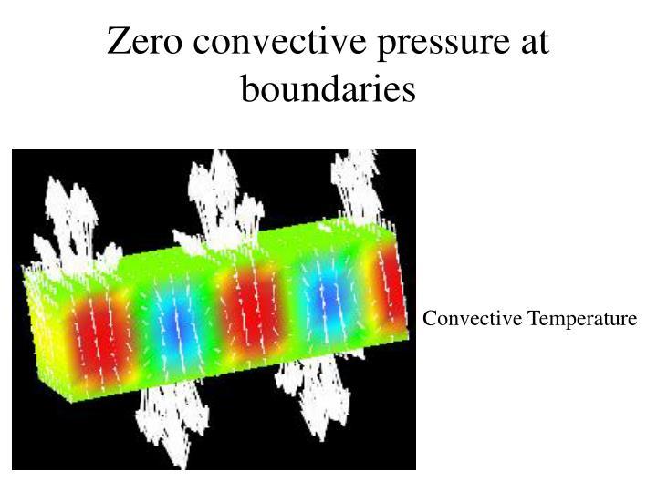 Zero convective pressure at boundaries