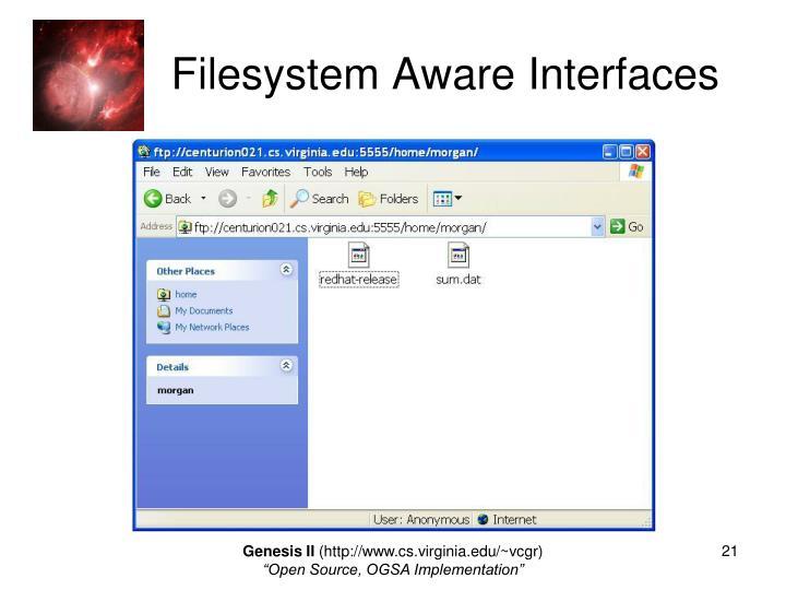 Filesystem Aware Interfaces