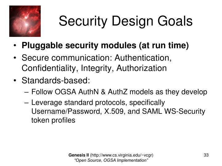 Security Design Goals