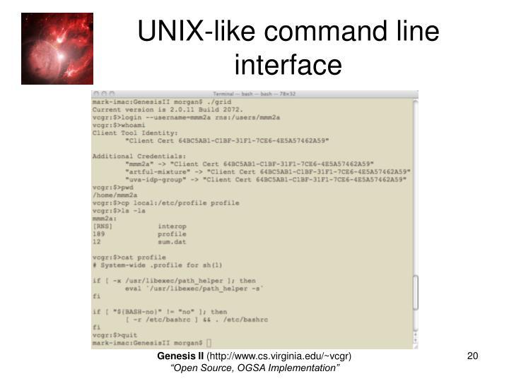 UNIX-like command line interface