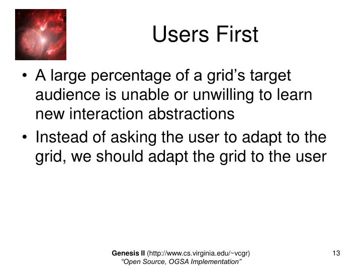 Users First