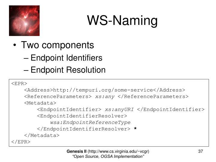 WS-Naming