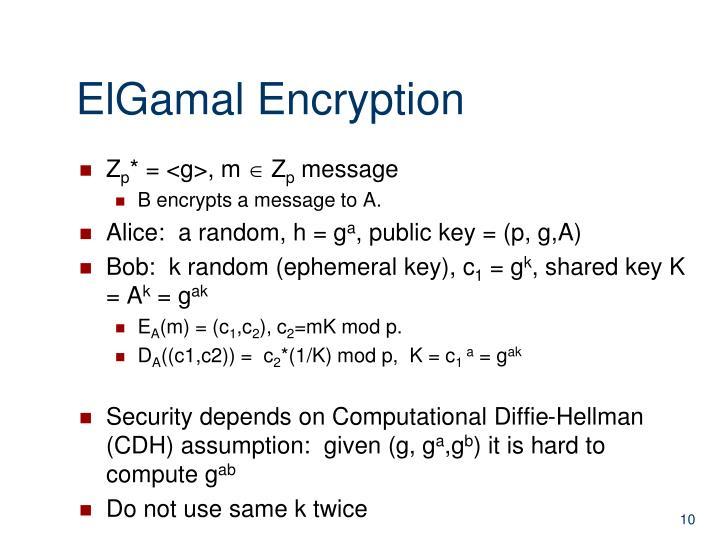 ElGamal Encryption