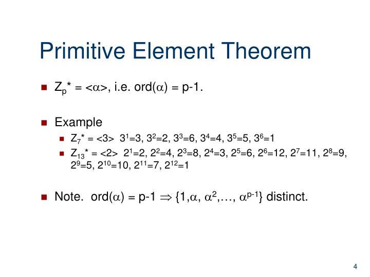 Primitive Element Theorem
