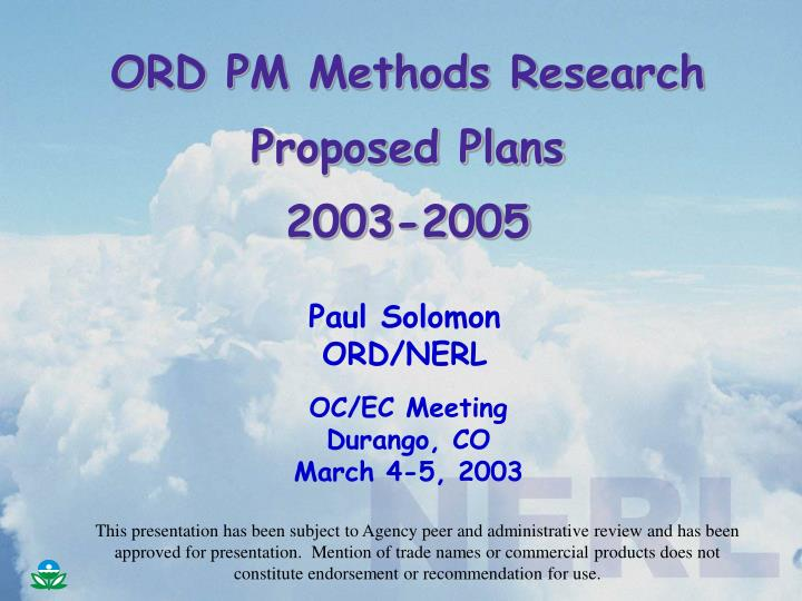 ORD PM Methods Research