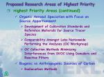 proposed research areas of highest priority3