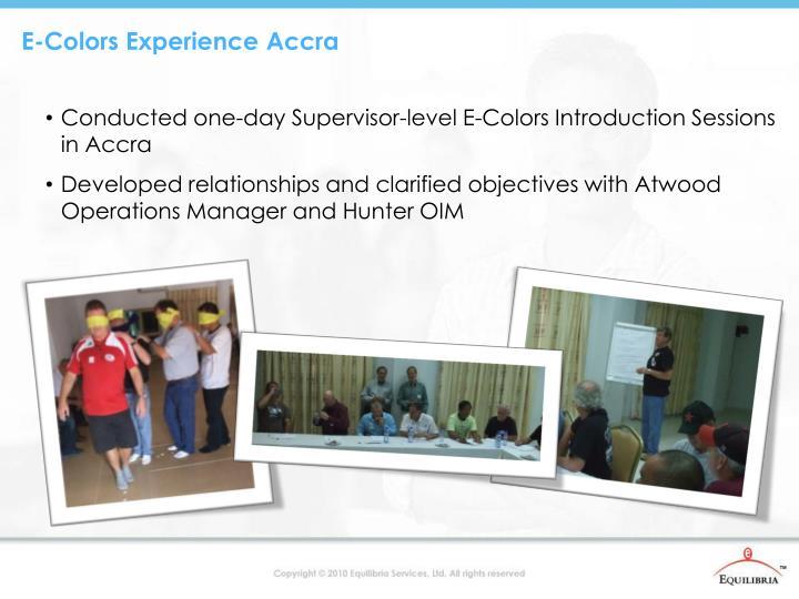 E-Colors Experience Accra