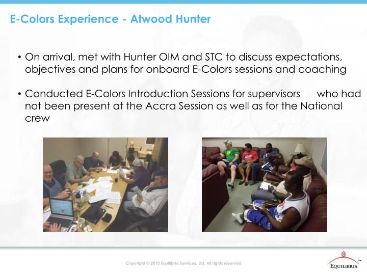 E-Colors Experience - Atwood Hunter