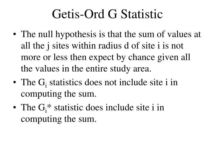 Getis-Ord G Statistic