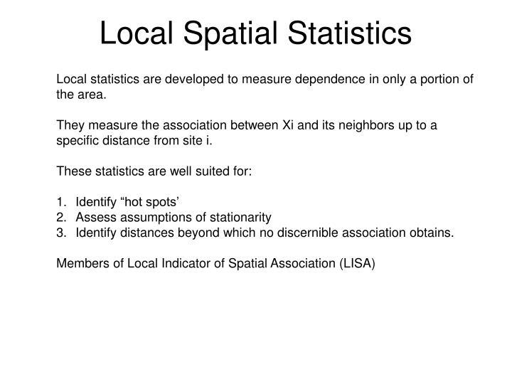 Local Spatial Statistics