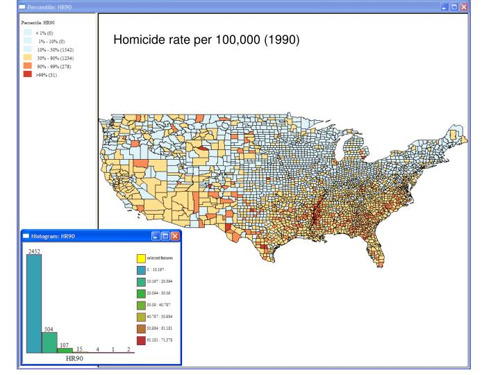Homicide rate per 100,000 (1990)