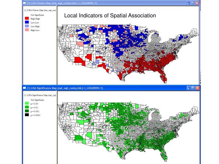 Local Indicators of Spatial Association
