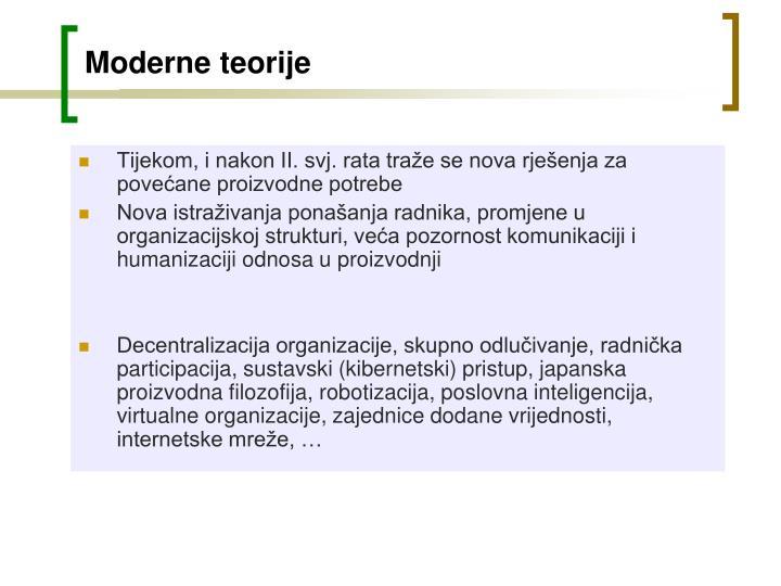 Moderne teorije