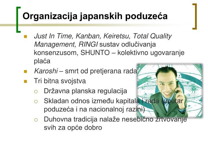 Organizacija japanskih poduzeća