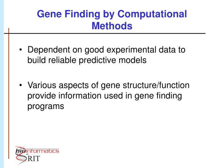 Gene Finding by Computational Methods