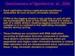 conclusions of sporbert et al 2002