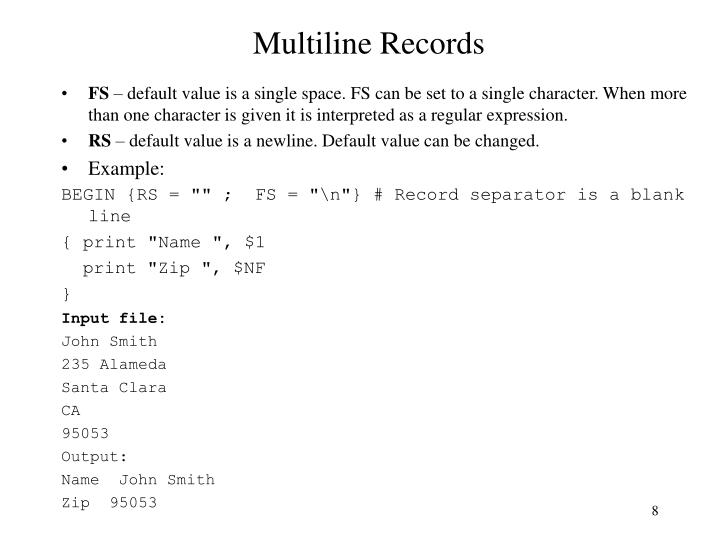 Multiline Records