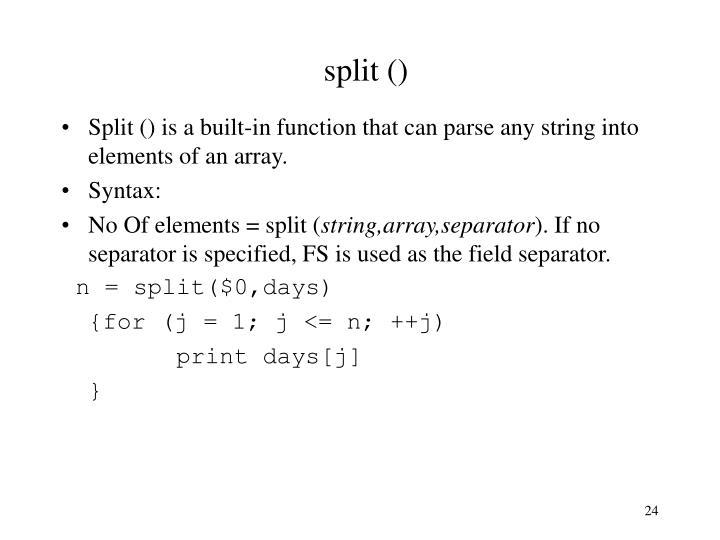 split ()