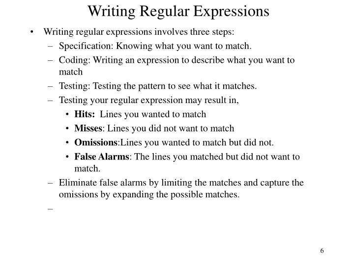 Writing Regular Expressions