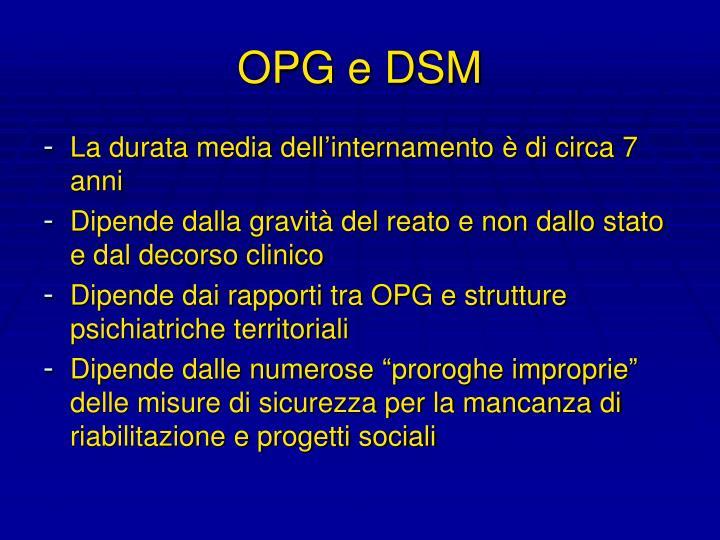 OPG e DSM