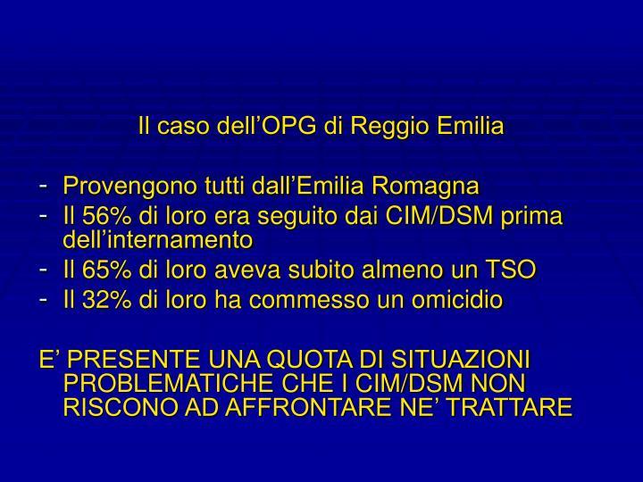 Il caso dell'OPG di Reggio Emilia