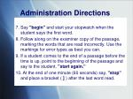 administration directions