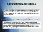 administration directions1