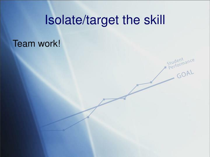 Isolate/target the skill