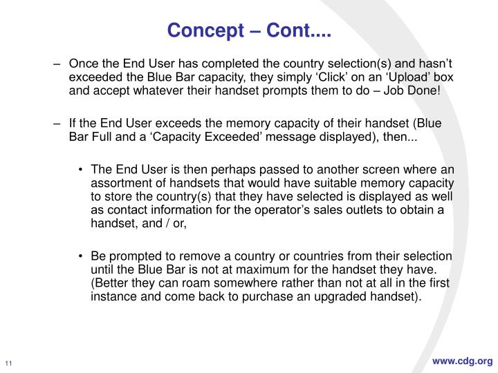 Concept – Cont....