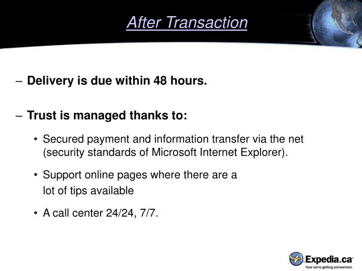 After Transaction