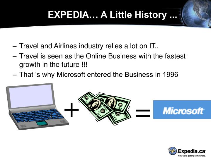 EXPEDIA… A Little History ...