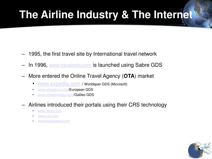 The Airline Industry & The Internet
