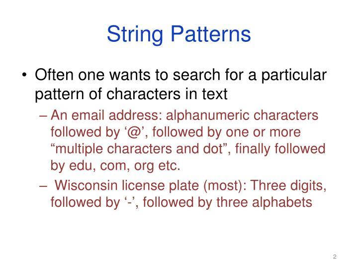 String Patterns