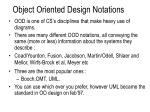 object oriented design notations