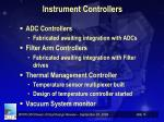 instrument controllers