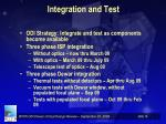 integration and test
