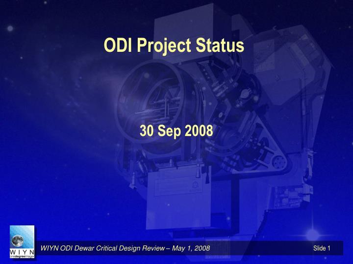 odi project status