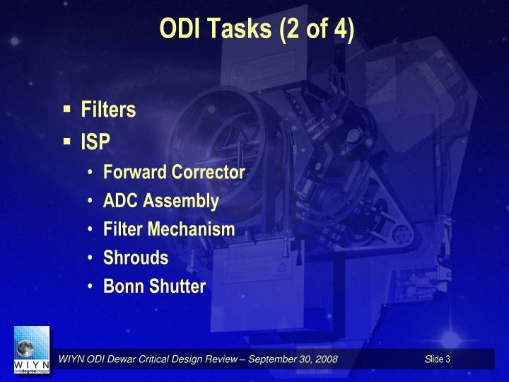 ODI Tasks (2 of 4)