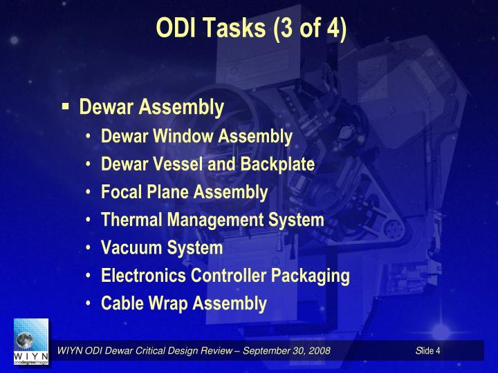 ODI Tasks (3 of 4)