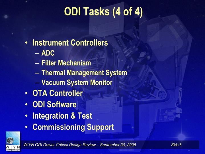 ODI Tasks (4 of 4)