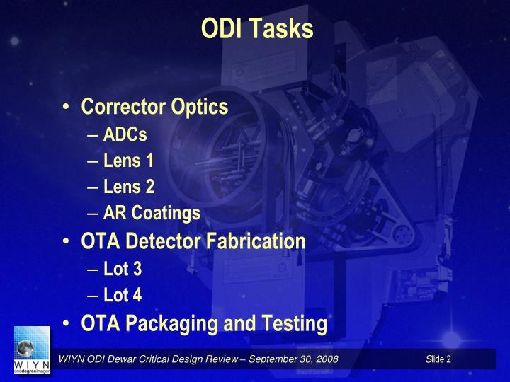 ODI Tasks