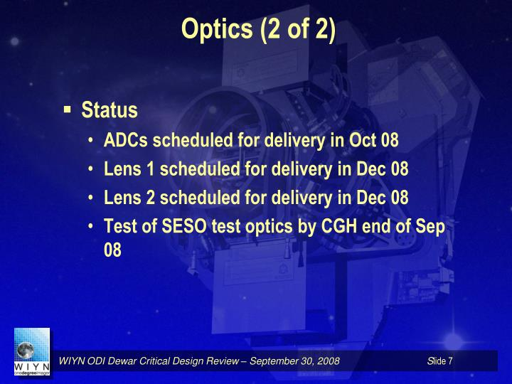 Optics (2 of 2)
