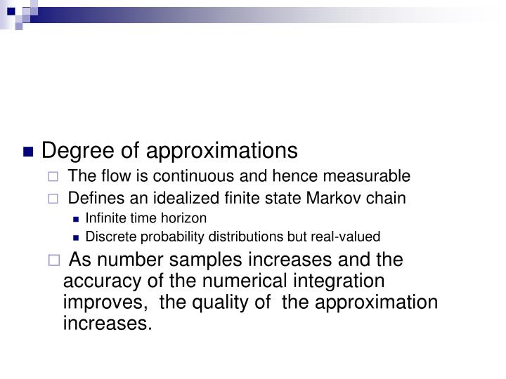 Degree of approximations