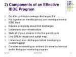 2 components of an effective idde program